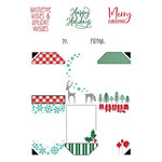 LDRS Creative - Clear Photopolymer Stamps - Christmas Gift Tag Stack