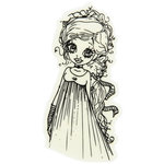 LDRS Creative - Saturated Canary Collection - Cling Mounted Rubber Stamps - Gothica