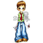 LDRS Creative - Saturated Canary Collection - Cling Mounted Rubber Stamps - Mama's Boy