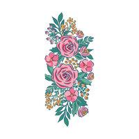 LDRS Creative - Layering Stencils - Slimline - Garden Grandeur