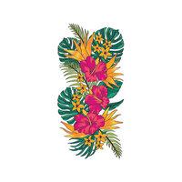 LDRS Creative - Layering Stencils - Slimline - Tropical Floral