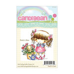 LDRS Creative - CandiBean Collection - Cling Mounted Rubber Stamps - Peek-a-boo