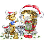 LDRS Creative - CandiBean Collection - Cling Mounted Rubber Stamps - Izzy's Aussie Christmas