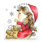 LDRS Creative - Christmas - CandiBean Collection - Cling Mounted Rubber Stamps - Let it Snow
