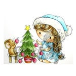LDRS Creative - Christmas - CandiBean Collection - Cling Mounted Rubber Stamps - I Can't Reach