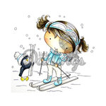 LDRS Creative - CandiBean Collection - Cling Mounted Rubber Stamps - Can I Ski Too
