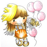 LDRS Creative - CandiBean Collection - Cling Mounted Rubber Stamps - Penny's Birthday Surprise