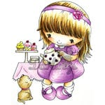 LDRS Creative - CandiBean Collection - Cling Mounted Rubber Stamps - Time for Tea