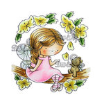 LDRS Creative - CandiBean Collection - Cling Mounted Rubber Stamps - Blossom Daisy