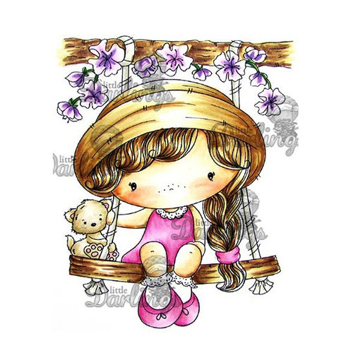 LDRS Creative - CandiBean Collection - Cling Mounted Rubber Stamps - Swinging by to Say Hi
