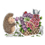 LDRS Creative - CandiBean Collection - Cling Mounted Rubber Stamps - Handpicked For Hedgy