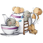 LDRS Creative - CandiBean Collection - Cling Mounted Rubber Stamps - Time For A Cuppa