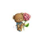 LDRS Creative - CandiBean Collection - Cling Mounted Rubber Stamps - Rosie Bear