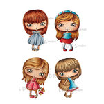 LDRS Creative - CandiBean Collection - Cling Mounted Rubber Stamps - Blossom Girls