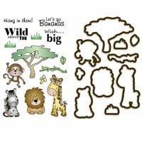 LDRS Creative - Designer Dies and Clear Acrylic Stamps - Safari