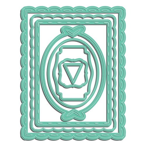 LDRS Creative - Designer Dies - Scalloped Rectangle Frame