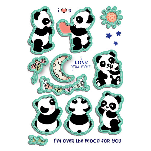 LDRS Creative - Open Hearts Collection - Designer Dies - Panda Play