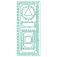 LDRS Creative - Designer Dies - Slimline - Diagonal Stitched Postage Frames