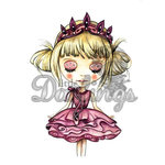LDRS Creative - Dollhouse Collection - Cling Mounted Rubber Stamps - Tabitha