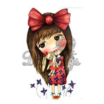 LDRS Creative - Dollhouse Collection - Cling Mounted Rubber Stamps - Gwen