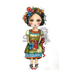 LDRS Creative - Dollhouse Collection - Cling Mounted Rubber Stamps - All Dolled Up