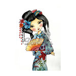 LDRS Creative - Dollhouse Collection - Cling Mounted Rubber Stamps - Geisha