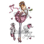 LDRS Creative - All Dressed Up Collection - Cling Mounted Rubber Stamps - Looking Gorgeous