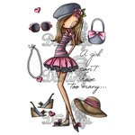 LDRS Creative - All Dressed Up Collection - Cling Mounted Rubber Stamps - A Girl Can't Have Too Many