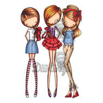 LDRS Creative - All Dressed Up Collection - Cling Mounted Rubber Stamps - Girls Night Out