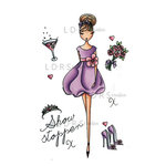 LDRS Creative - All Dressed Up Collection - Cling Mounted Rubber Stamps - Show Stopper