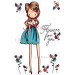 LDRS Creative - All Dressed Up Collection - Cling Mounted Rubber Stamps - Flowers For You