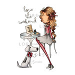 LDRS Creative - All Dressed Up Collection - Cling Mounted Rubber Stamps - Love The Weekend