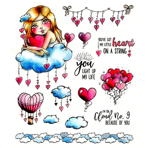 LDRS Creative - Cre8tive Cre8tions Collection - Cling Mounted Rubber Stamps - Cloud No. 9