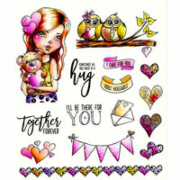 LDRS Creative - Cre8tive Cre8tions Collection - Cling Mounted Rubber Stamps - Huggable