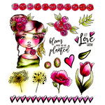 LDRS Creative - Cre8tive Cre8tions Collection - Cling Mounted Rubber Stamps - Let Love Grow