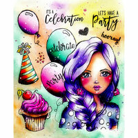 LDRS Creative - Cling Mounted Rubber Stamps - Art Journal - Celebration