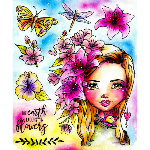 LDRS Creative - Cling Mounted Rubber Stamps - Art Journal - Flower Power