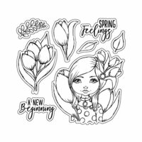 LDRS Creative - Cre8tive Cre8tions Collection - Clear Acrylic Stamps - A New Beginning