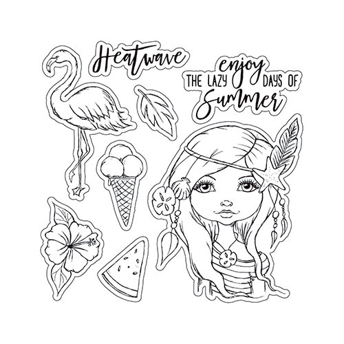 LDRS Creative - Cre8tive Cre8tions Collection - Clear Acrylic Stamps - Heatwave
