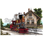 LDRS Creative - DoveArt Studios Collection - Cling Mounted Rubber Stamps - Train Depot
