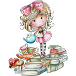 LDRS Creative - Polkadoodles Collection - Cling Mounted Rubber Stamps - Time For Tea