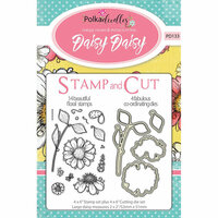 LDRS Creative - Polkadoodles Collection - Designer Dies and Clear Acrylic Stamps - Daisy Daisy
