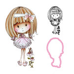 LDRS Creative - Cling Mounted Rubber Stamp and Die Set - Flower Girl