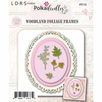 LDRS Creative - Polkadoodles Collection - Designer Dies - Woodland Foliage Oval