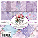 LDRS Creative - Polkadoodles Collection - 6 x 6 Paper Pack - Lovely Lilacs