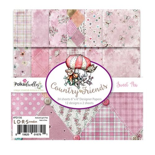 LDRS Creative - Polkadoodles Collection - 6 x 6 Paper Pack - Sweet Pea