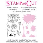 LDRS Creative - Polkadoodles Collection - Designer Dies and Clear Acrylic Stamps - Blooming Bugs