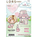 LDRS Creative - Polkadoodles Collection - Designer Dies and Clear Acrylic Stamps - Mini Winnie Shopping