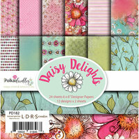 LDRS Creative - Polkadoodles Collection - 6 x 6 Paper Pack - Daisy Delights