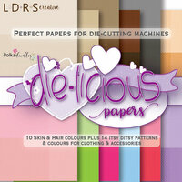 LDRS Creative - Polkadoodles Collection - 6 x 6 Paper Pack - Die-Licious